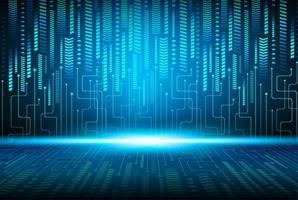 sfondo blu tecnologia del circuito cyber futuro