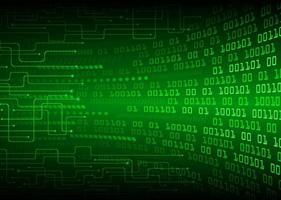 priorità bassa di concetto di tecnologia del futuro circuito cyber verde