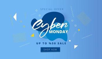 banner promozionale di cyber lunedì vettore