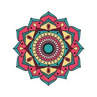 mandala riempito decorativo semplice vettore
