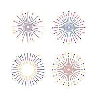 set di icone grafiche di fuochi d'artificio