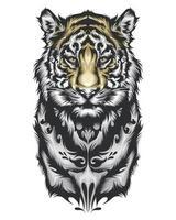 disegno della tigre tribale vettore