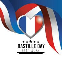 banner di celebrazione nazionale del giorno della bastiglia francese