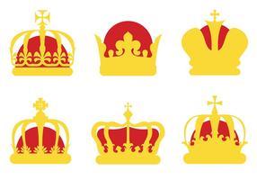 Vettore di icone di corona britannica gratis