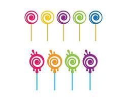 set lecca-lecca con colori diversi