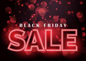 sfondo di vendita venerdì nero al neon