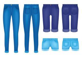 Vettore libero delle icone delle blue jeans