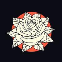 fiori di rosa di bellezza vettore