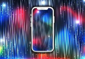 telefono con sfondo colorato