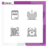 set di icone in stile linea di analisi