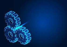 macchine ad ingranaggi su sfondo blu