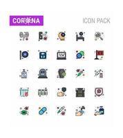 set di icone pittogramma colore coronavirus vettore