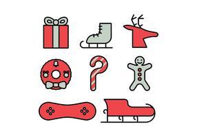 Set di icone di buon Natale