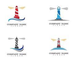 immagini del logo del faro vettore