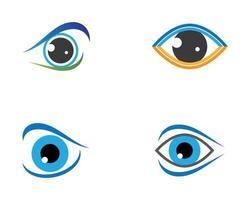 set di forme di design del logo dell'occhio vettore