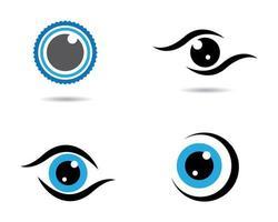 immagini del logo dell'occhio vettore