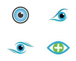 set di immagini del logo dell'occhio vettore