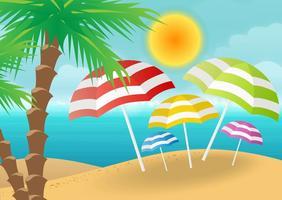 sfondo vettoriale spiaggia
