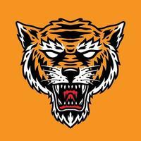 semplice testa di tigre perfetta per mascotte
