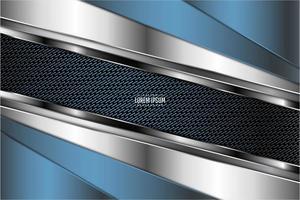 sfondo metallico blu tecnologico.