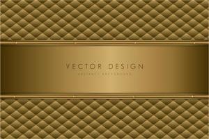 struttura in metallo oro di lusso con tappezzeria.