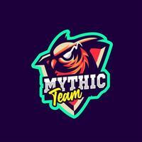 gufo mascotte logo stile sportivo