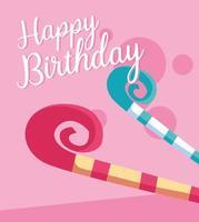 carta di buon compleanno con fischietti di partito