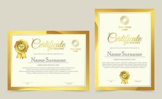 modelli di certificati professionali premio design