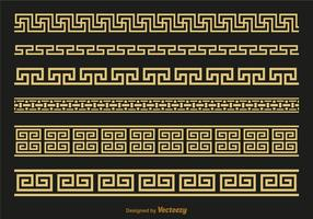 Vettore di spazzole di chiave greca di Versace