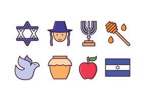 Set di icone di Israele vettore