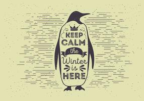 Vector Tipografia Penguin Illutration