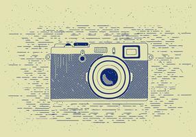 Illustrazione dettagliata della macchina fotografica di vettore libero