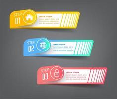 set di infografica banner casella di testo moderna