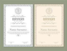certificato di conseguimento con cornice classica