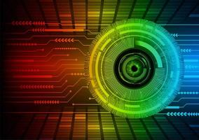 occhio cyber circuito futuro tecnologia concetto sfondo