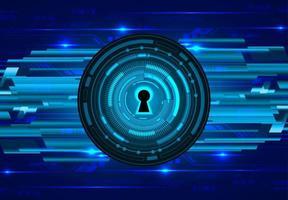 lucchetto chiuso su sfondo digitale blu vettore