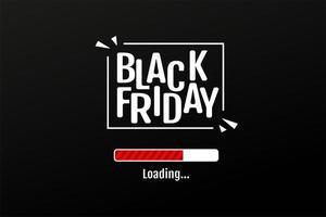 la barra di download conta i giorni della promozione dei saldi del black friday vettore