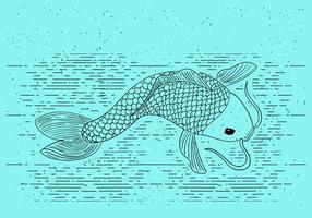 Illustrazione vettoriale dettagliata gratuita di pesce d'oro