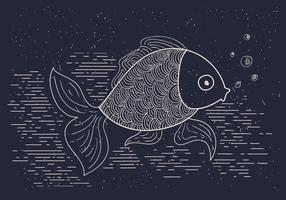 Illustrazione vettoriale dettagliata di pesce