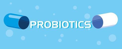 icona della capsula di medicina probiotica vettore
