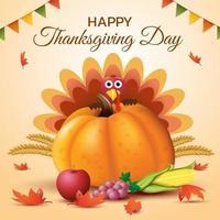 felice giorno del ringraziamento poster design
