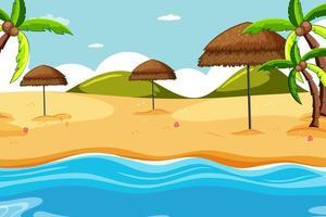 scena di sfondo tropicale beachscape vettore