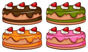 un semplice schizzo a colori delle torte vettore