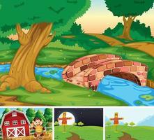 set di scene di fattoria