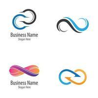 set di immagini del logo infinito