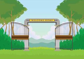 Illustrazione libera del cancello aperto vettore