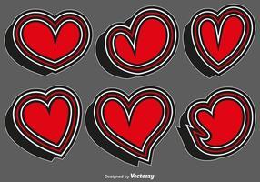 Collezione di adesivi cuore - Vector