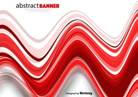 Linee astratte rosse ondulate di vettore