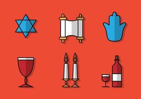 Icona di Shabbat piatto vettore