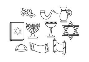 Vettore gratuito di Shabbat